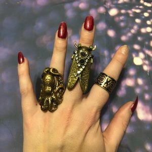 Jewelry - Bronze and gold ring lot